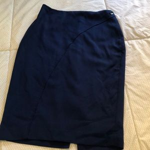 The Limited high waisted navy pencil skirt
